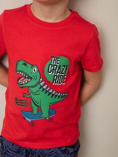 Rotes T-Shirt mit Dinosaurier-Design ZUZAGE3 / 21E3PGL2TMC050