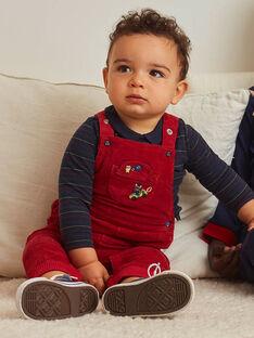 Baby Junge roter Samt-Overall BAPAUL / 21H1BGM1SALF528