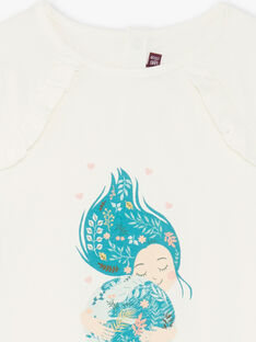 T-Shirt langärmelig Kind Mädchen ZATILETTE / 21E2PF71TML009