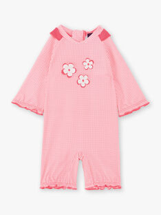Fluoreszierende rosa Baby Mädchen Badeanzug ZISIRENE / 21E4BFR1CBBD311
