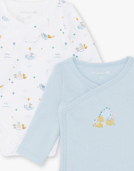 Satz mit 2 Baby-Bodysuits für Jungen ZOLIAM / 21E0NGG1BOD020